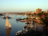 Egypt - City of Aswan and the Nile river